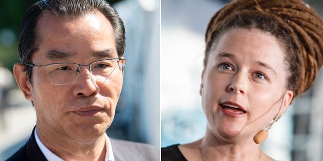 Gui Congyou och Amanda Lind (MP). TT