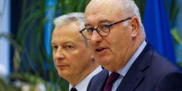Arkivbild: Phil Hogan tillsammans med Frankrikes finansminister Bruno Le Maire Charles Platiau / TT NYHETSBYRÅN