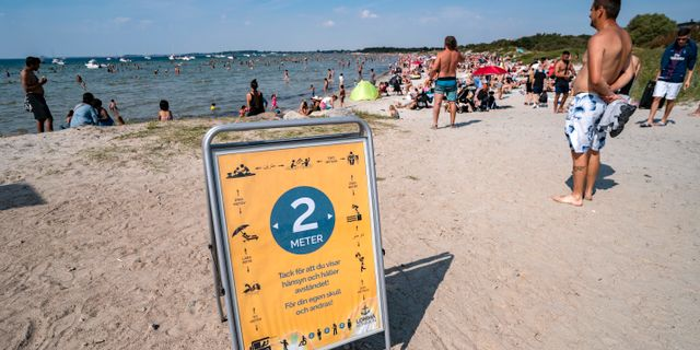 Strand i Lomma i Skåne. Johan Nilsson/TT / TT NYHETSBYRÅN