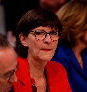 Saskia Esken. ODD ANDERSEN / AFP