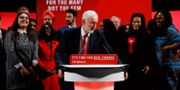 Labourledaren Jeremy Corbyn under ett valmöte idag. HENRY NICHOLLS / TT NYHETSBYRÅN