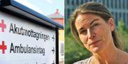 Sofia Mirjamsdotter tycker att folk söker vård för lättvindigt. TT