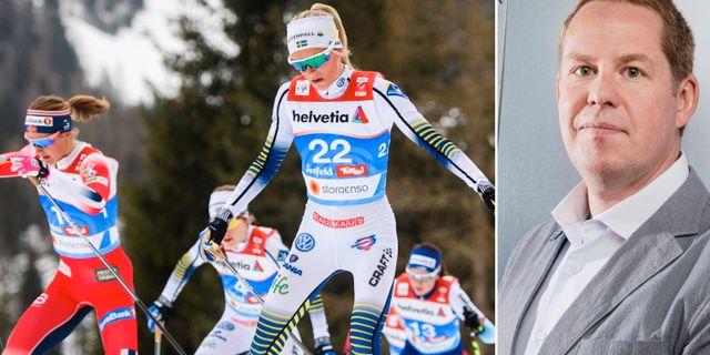 Frida Karlsson till vänster, Ola Strömberg till höger.  Bildbyrån.