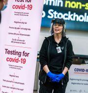 Provtagningsstation på Arlanda flygplats, arkivbild.  Claudio Bresciani / TT / TT NYHETSBYRÅN