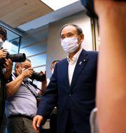 Arkivbild: Japans avgående premiärminister Yoshihide Suga.  Behrouz Mehri / TT NYHETSBYRÅN
