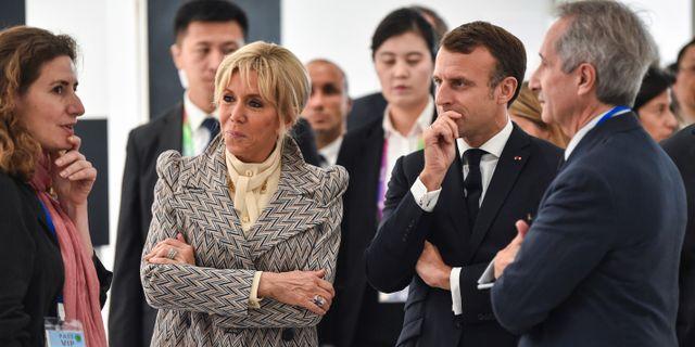 Frankrikes president Emmanuel Macron.  Hector Retamal / TT NYHETSBYRÅN