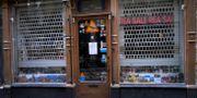 En stängd butik på Västerlånggatan i Stockholm.  TT NEWS AGENCY / TT NYHETSBYRÅN