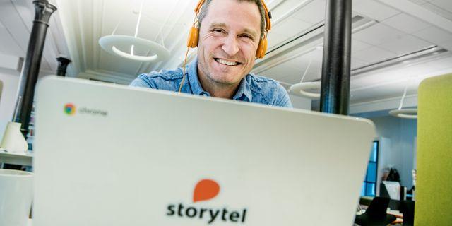 Jonas Tellander, vd för Storytel. Lars Pehrson/SvD/TT / TT NYHETSBYRÅN