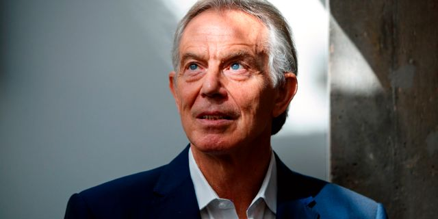 Tony Blair TOLGA AKMEN / AFP