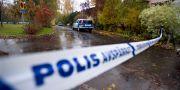 Mordplatsen i Linköping. Lasse Hejdenberg / TT / TT NYHETSBYRÅN