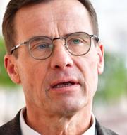 M-ledaren Ulf Kristersson och SD-ledaren Jimmie Åkesson.  TT.