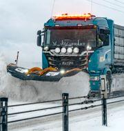 Plogbil på E65 mellan Malmö och Ystad tidigare i februari. Johan Nilsson/TT / TT NYHETSBYRÅN