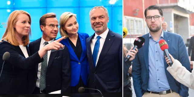 Alliansen och Jimmie Åkesson.  TT.