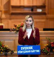 Ebba Busch. Arkivbild. Pontus Lundahl/TT / TT NYHETSBYRÅN
