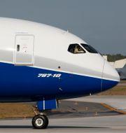 787 Dreamliner-plan. Arkivbild. Mic Smith / TT NYHETSBYRÅN