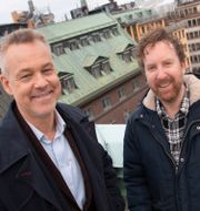 Henrik Schyffert och Uje Brandelius.  Fredrik Sandberg/TT / TT NYHETSBYRÅN