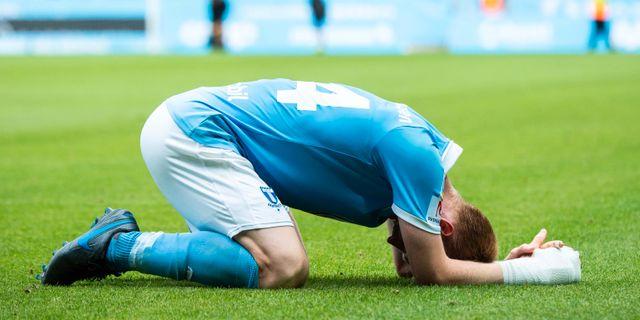 Malmös målskytt Anders Christiansen deppar efter matchen. CHRISTIAN ÖRNBERG / BILDBYRÅN