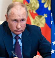 Rysslands president Vladimir Putin och USA:s Jared Kushner som varit med och tagit fram avtalen mellan Israel och flera arabländer.  TT