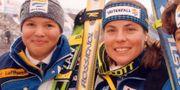 Anja Pärsson och Pernilla Wiberg, 1999.  HENRIK BJ RNSSON / © Bildbyr n