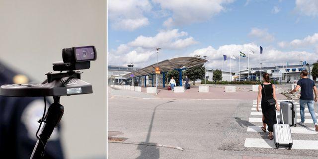 Kamera för ansiktsigenkänning på flygplatsen i Orlando/Skavsta flygplats TT