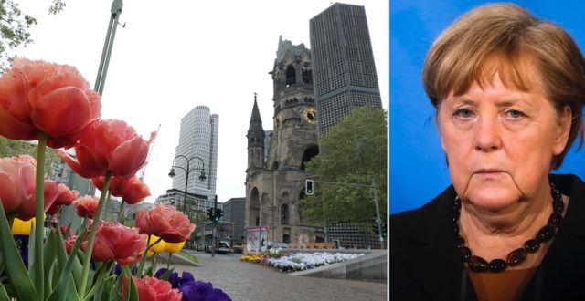Arkivbild: Kaiser Wilhelm Gedächtniskirche i Berlin / Angela Merkel TT