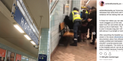 Händelsen skedde på Hötorget/En film som spreds på Instagram visade ingripandet. TT