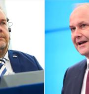 David Lega och Jonas Sjöstedt. TT