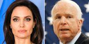 Angelina Jolie och John McCain. AP.
