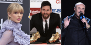 Taylor Swift, Lionel Messi och Dr Phil McGraw. TT.