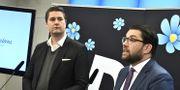 SD:s ekonomiskpolitiske talesperson Oscar Sjöstedt och partiledare Jimmie Åkesson. Arkivfoto. Claudio Bresciani/TT / TT NYHETSBYRÅN