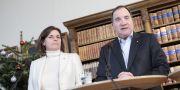 Vice statsminister Isabella Lövin (MP) och Statsminister Stefan Löfven (S).  Kicki Nilsson/TT / TT NYHETSBYRÅN