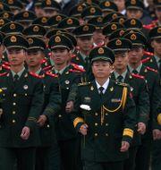 Kinesiska militärer. Illustrationsbild. Andy Wong / TT NYHETSBYRÅN