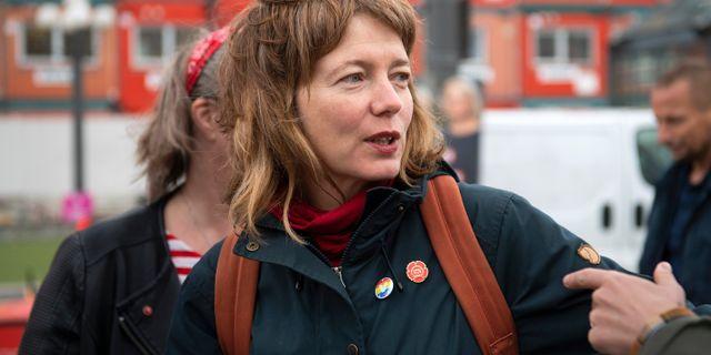 Malin Björk (V). Henrik Montgomery/TT / TT NYHETSBYRÅN