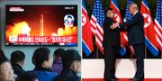 Tidigare mötet mellan Kim Jong-Un och Donald Trump.  TT