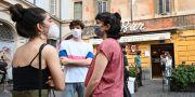 Vardagen börjar så smått återvända i Rom. ALBERTO PIZZOLI / TT NYHETSBYRÅN