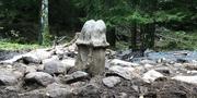 Fallosstenen i Kungälv. Bild från Arkeologernas Instagramkonto.  Instagram.