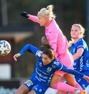 Caroline Seger mot Vittsjös Lisa Klinga. CHRISTOFFER BORG MATTISSON / BILDBYRÅN