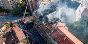 Branden i hyreshuset skedde tidigare i juni.  Johan Nilsson/TT / TT NYHETSBYRÅN