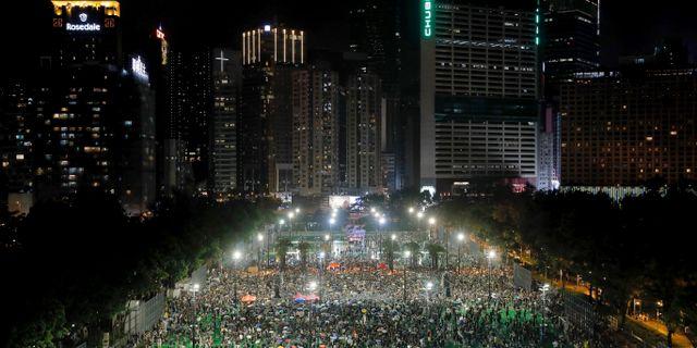 För elfte söndagen i rad har ännu en demonstration arrangerats i Hongkong. Kin Cheung / TT NYHETSBYRÅN/ NTB Scanpix