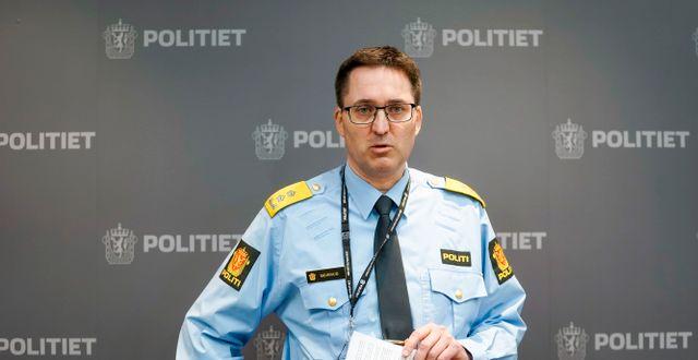 Polischefen Ole Bredrup Sæverud.  Terje Pedersen / TT NYHETSBYRÅN