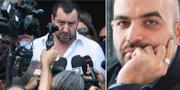 Matteo Salvini och Roberto Saviano. TT