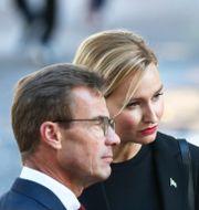 M-ledaren Ulf Kristersson och KD-ledaren Ebba Busch. Sören Andersson/TT / TT NYHETSBYRÅN