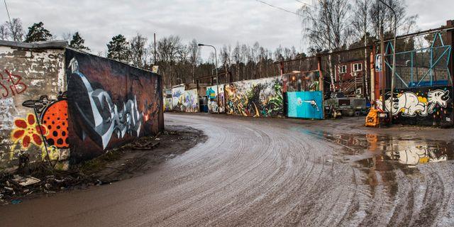 Arkivbild. Industrifastigheter på Snösätra gränd i Rågsved utanför Stockholm. FANNI OLIN DAHL / TT / TT NYHETSBYRÅN
