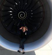 Rolls-Royce-motor på ett Airbus-plan. Arkivbild. Kai Pfaffenbach / TT NYHETSBYRÅN