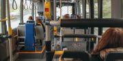 Interiör från en av Västtrafiks bussar. Margareta Gustafsson/TT / TT NYHETSBYRÅN