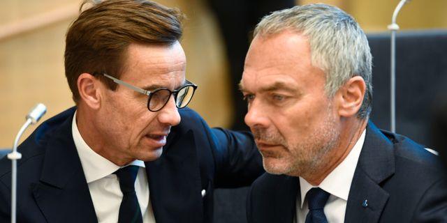 Ulf Kristersson och Jan Björklund.  Henrik Montgomery/TT / TT NYHETSBYRÅN