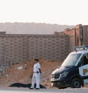 Polis utanför begravningsplatsen i Kairo Amr Abdallah Dalsh / TT NYHETSBYRÅN