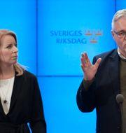 Anders W Jonsson tillsammans med Annie Lööf.  Janerik Henriksson/TT / TT NYHETSBYRÅN