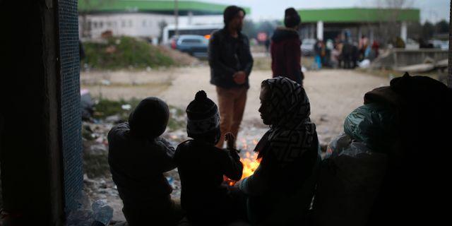 Bild från gränsområdet mellan Turkiet och Grekland. Emrah Gurel / TT NYHETSBYRÅN