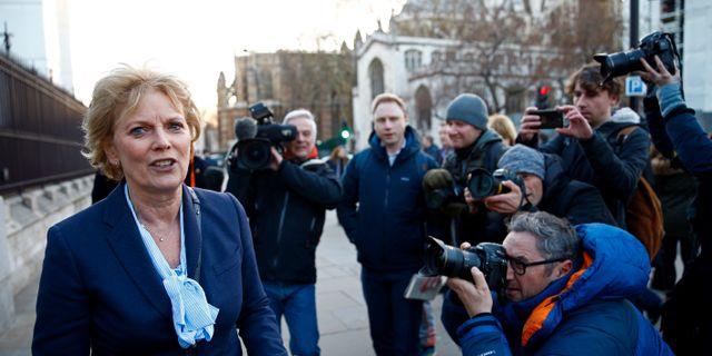 Anna Soubry är en av politikerna som lämnar Tories. HENRY NICHOLLS / TT NYHETSBYRÅN